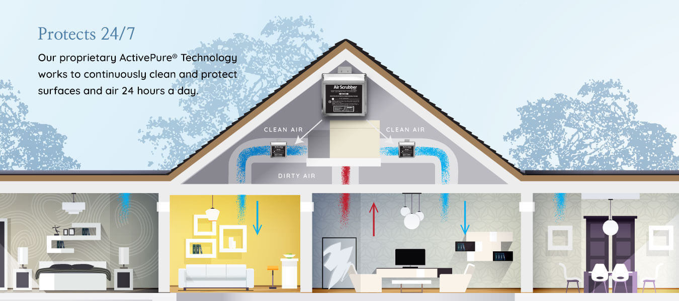 Image of the process for air purification systems.