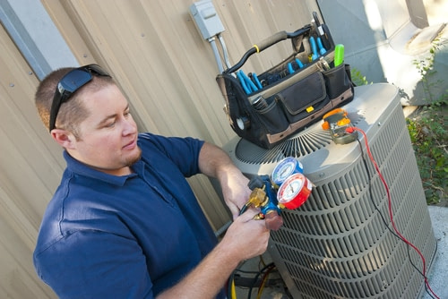air conditioning hvac tech working